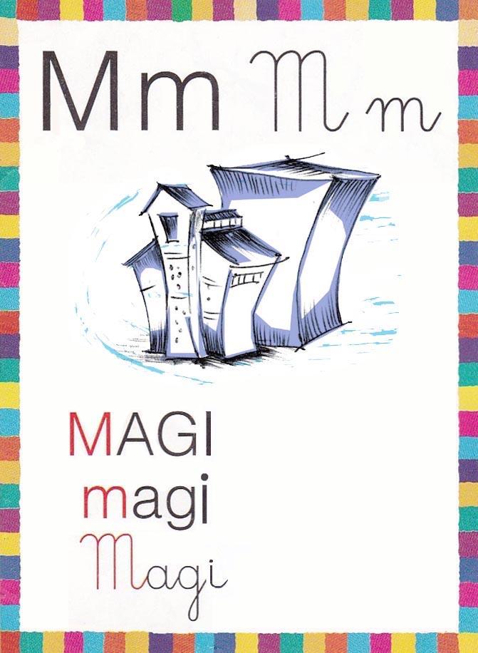 M come Museo finito con logo