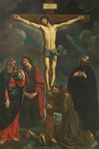 Bartolomeo Gennari, Crocifissione con Madonna e Santi, 1637