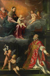 Giovan Francesco Gessi, San Filippo Neri ha la visione della Madonna con Bambino, 1626