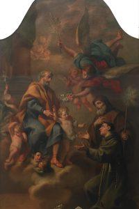 Jacopo Alessandro Calvi, Apparizione di San Giuseppe col Bambino a Sant'Antonio da Padova e a San Francesco di Paola, post 1770