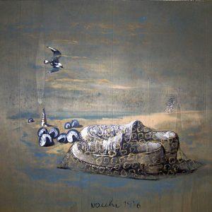 Sergio Vacchi, Capriccio terzo, La conchiglia e le scarpe, 1976