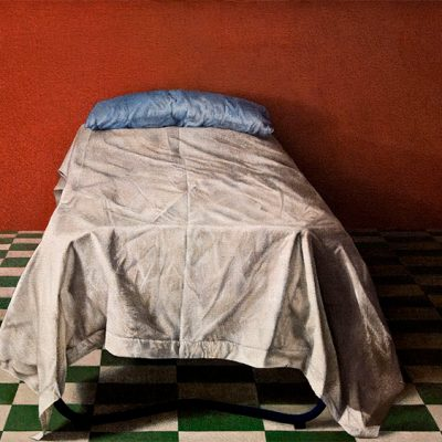 Luino Bernardino, The bed in the red room, 1976/77
