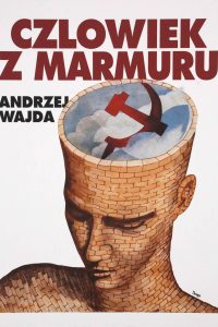 F.Scepi, Primo bozzetto per il manifesto del film L'Uomo di marmo, 1979