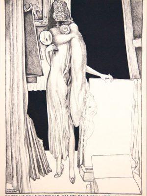 Alberto Martini, Ritratto della Marchesa Casati nel mio atelier a Parigi,  1925 ca.