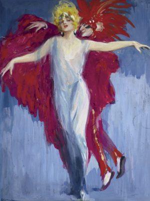 Lutz Ehrenberger, Ballerina con figura in rosso, Monaco, 1929