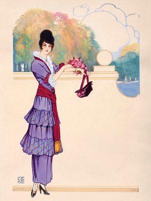 Anonimo, Figurini di moda,  s.d.