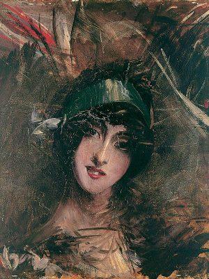 Giovanni Boldini, Il cappellino azzurro, s.d.