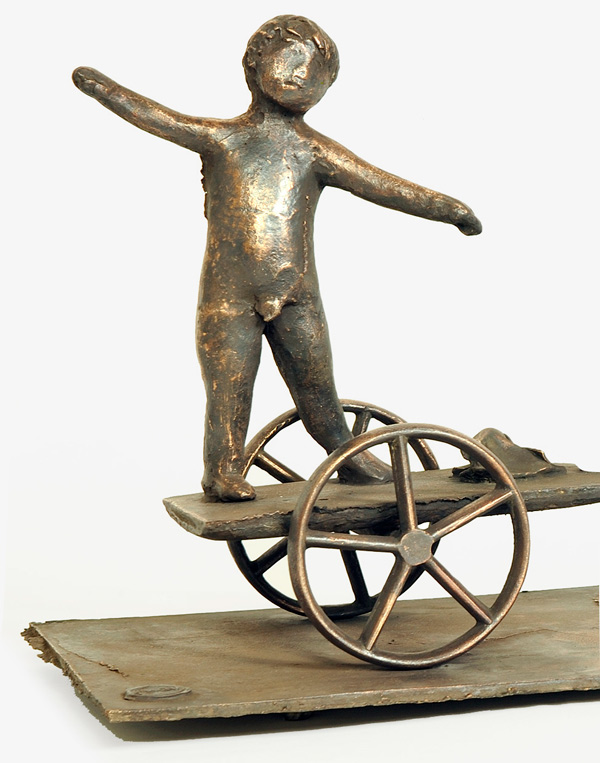 Giacomo Manzù, Bambino in carrozza, 1982