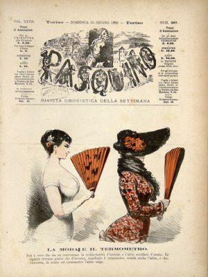 """Casimiro Teja, La moda e il termometro , """"Pasquino"""" n. 26, 25 Giugno 1882"""