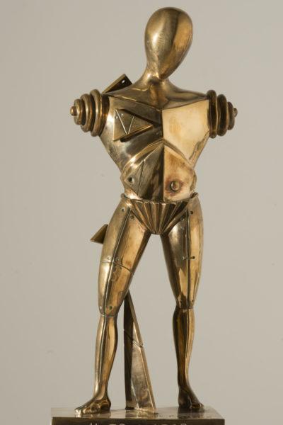 Giorgio de Chirico_Il trovatore_bronzo lucidato h cm 51_tratto da gesso originale del 1970 es V_VII