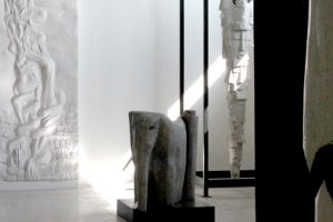 Ground floor, View of the Italo-African sculptures room