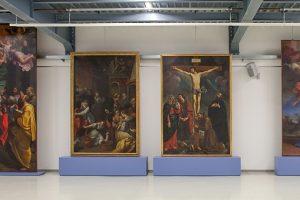 Ground floor, artworks from the Collegiate church in Pieve di Cento