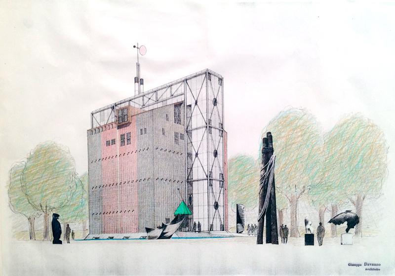 Giuseppe D'Avanzo, project for the granary silo restoration