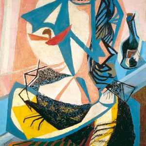 Prampolini enrico_cassandra 1945 ca_olio su tavola_cm 115,5x88,5