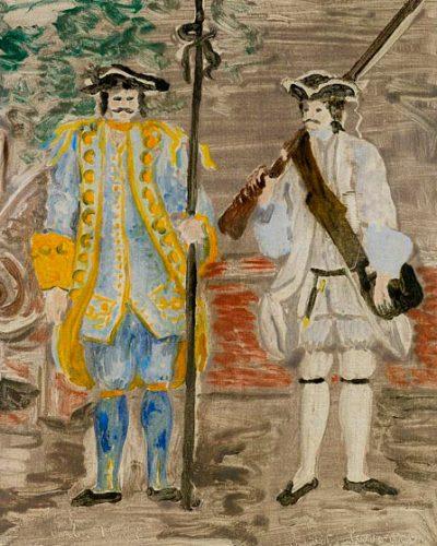 Carlo Levi, Bozzetto per costumi di scena del film Pietro Micca, 1938