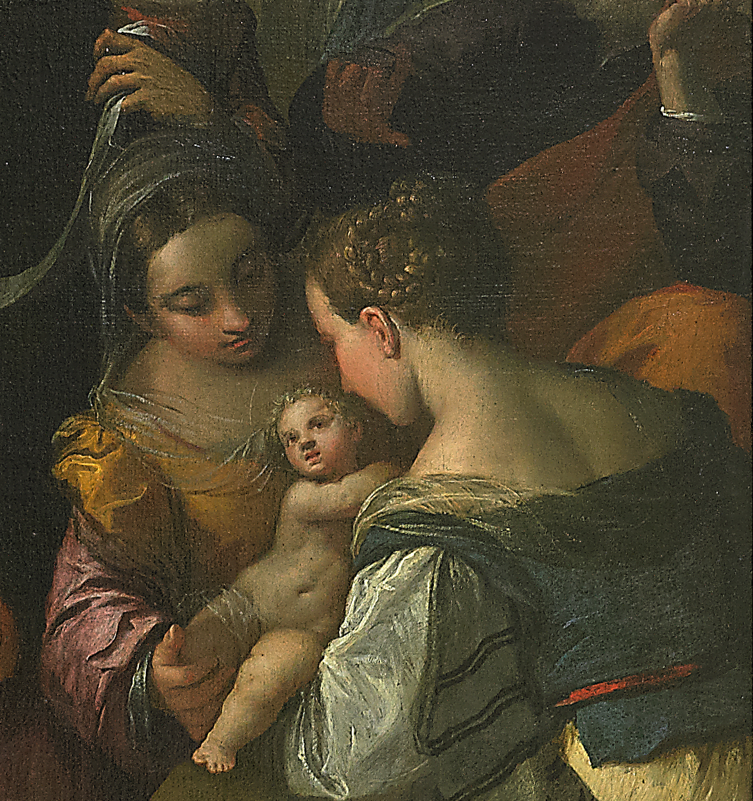 Lo Scarsellino, Nascita della Vergine, 1605 (particolare)
