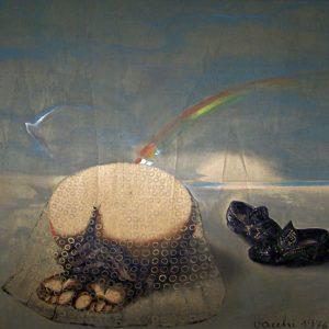 Sergio Vacchi, Capriccio quinto, Il nudo e le scarpe, 1976