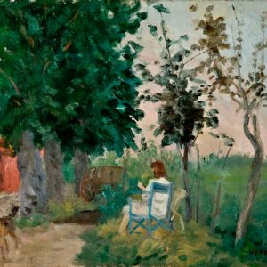 Renato Vernizzi, In giardino, 1940 ca