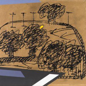 Concetto Pozzati, Impossibile paesaggio, 1992