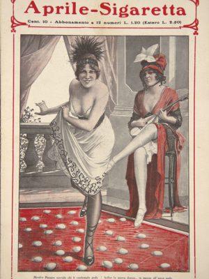 """Tancredi Scarpelli (Portos) Mentre Pasqua sorride… , """"La sigaretta"""", Aprile 1915"""