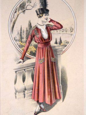 Anonimo, Figurini di moda, in Margherita giornale di moda delle signore italiane, 1900-1910 ca.