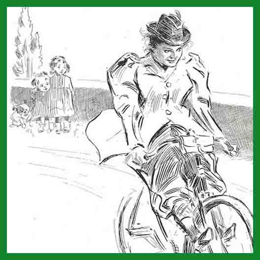 bellezza in bici per il sito con cornice verde